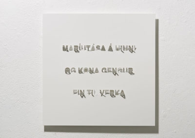Titill: Maríutása á himni. Texti: Maríutása á himni og kona gengur ein til verka