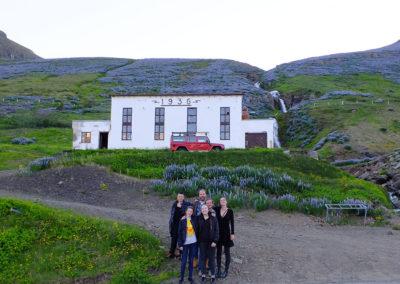 Fjölskyldan í Ljósastöðinni var ein 7 fjölskyldna sem buðu þátttakendum í kvöldmat.
