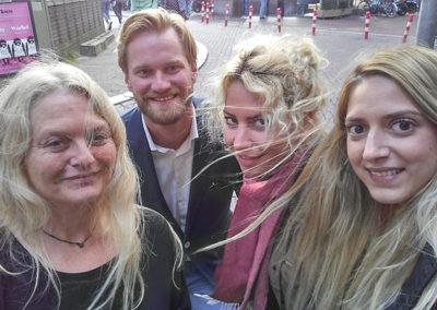 Arna, Mark, Yvette og Aisha