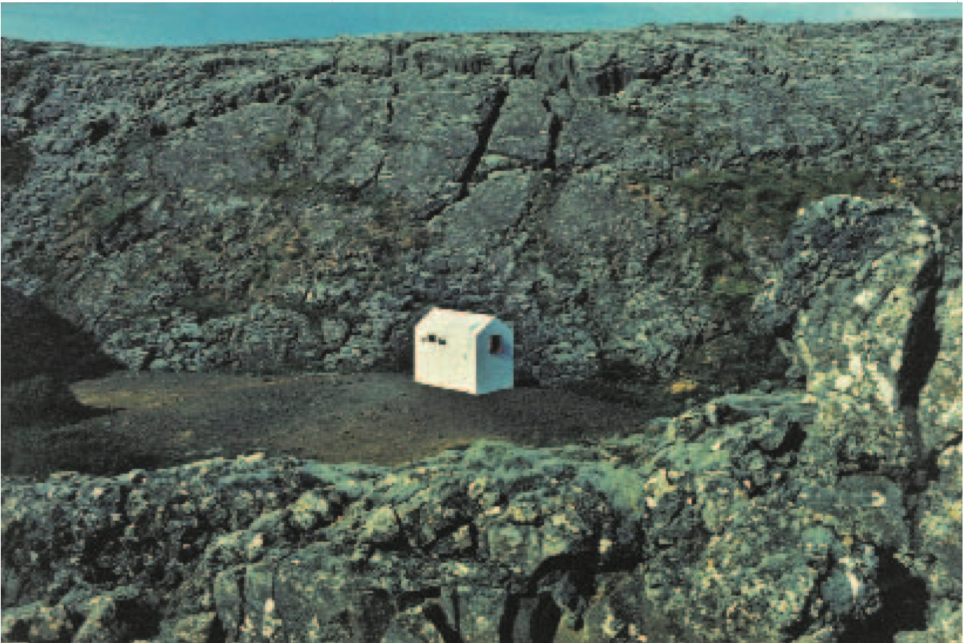 HREINN FRIÐFINNSSON House Project, First House, 1974 Mixed media. Courtesy of i8 Gallery.