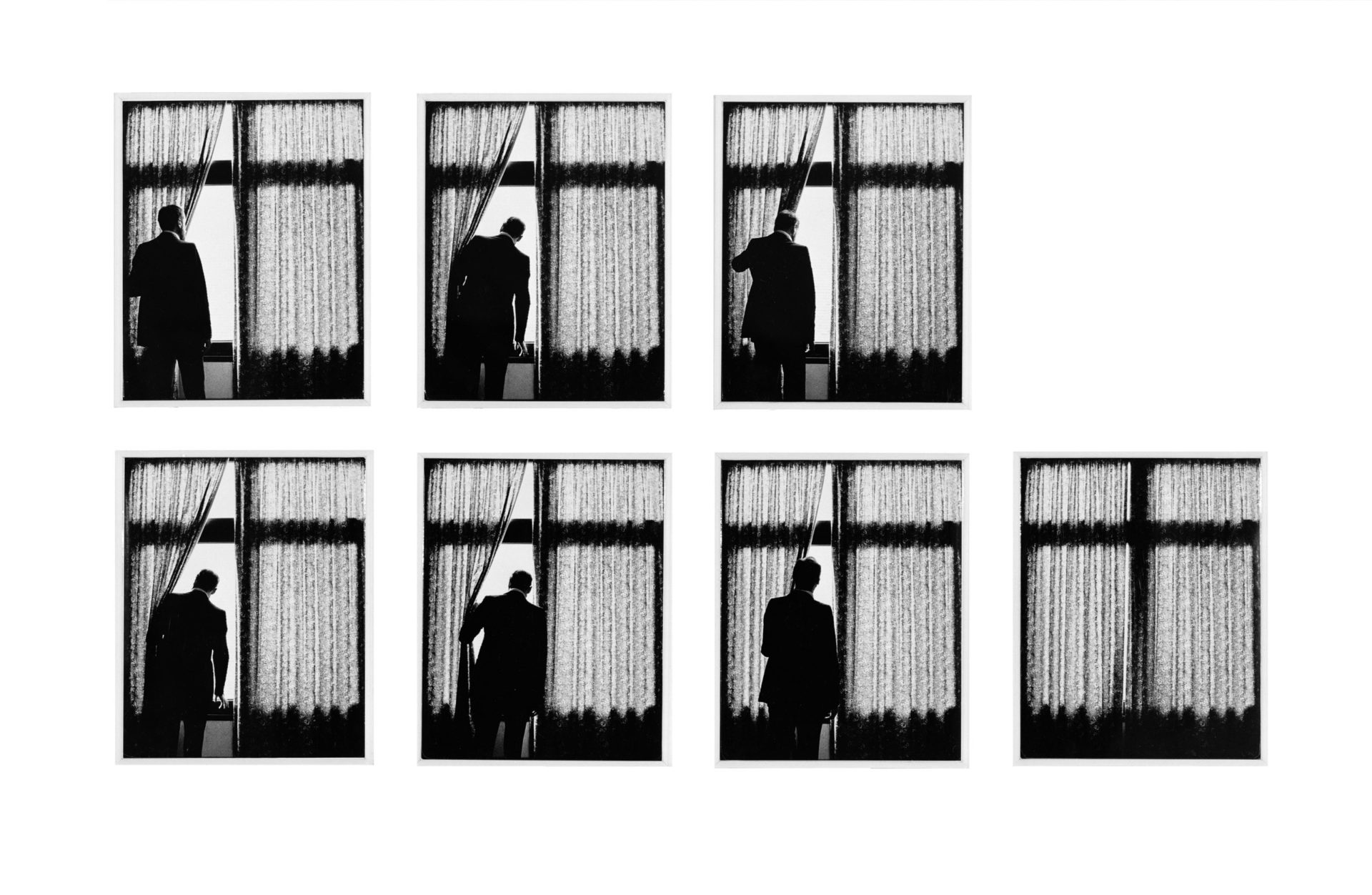 HREINN FRIÐFINNSSON Seven Times, 1979 seven black and white photographs each: 29,8 x 20,3 cm. Courtesy of i8 Gallery.